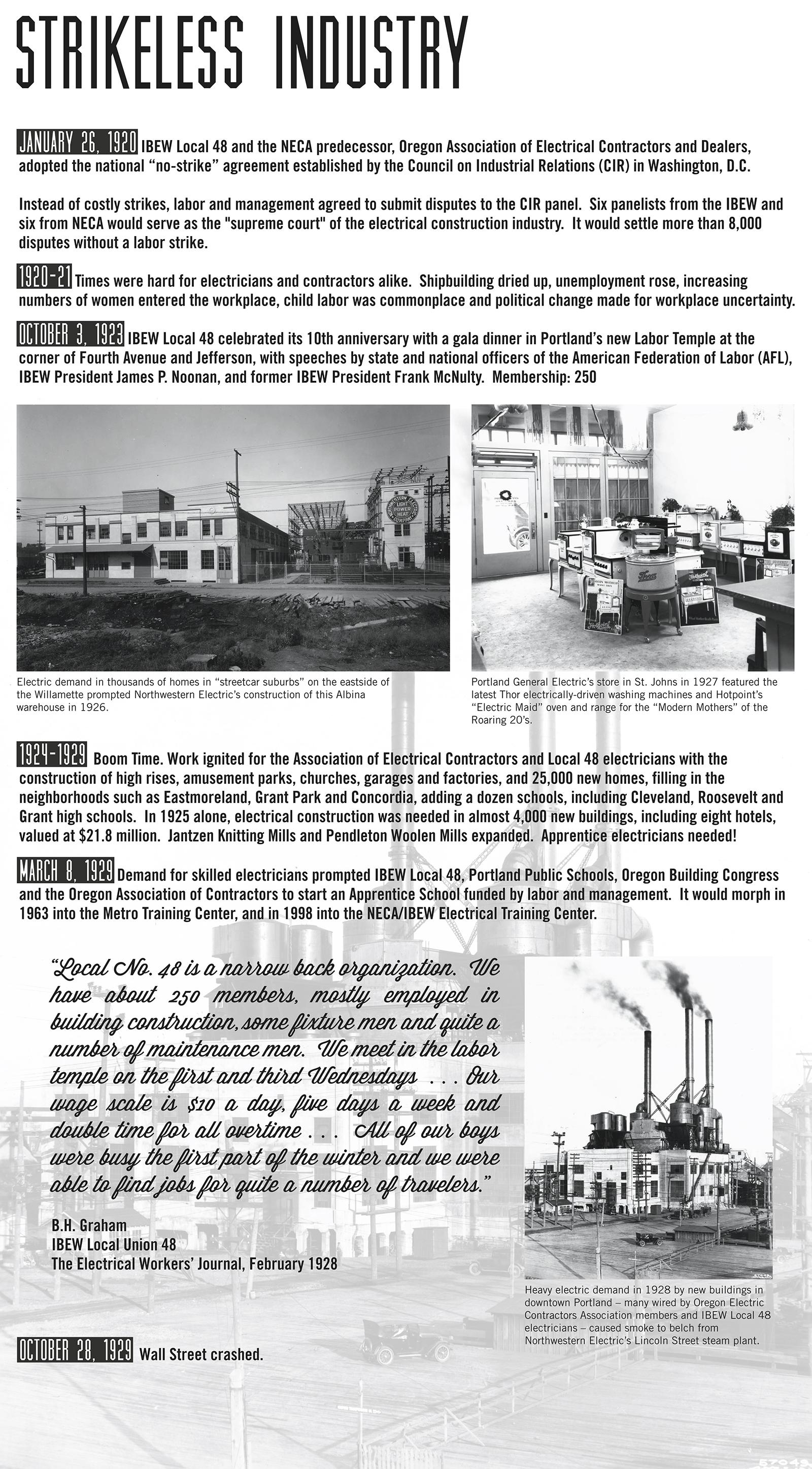 History - NECA/IBEW 48